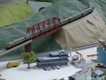 Photo of KATO ROUNDHOUSE Series 185 SHONAN color passes the iron bridge Thumbnail