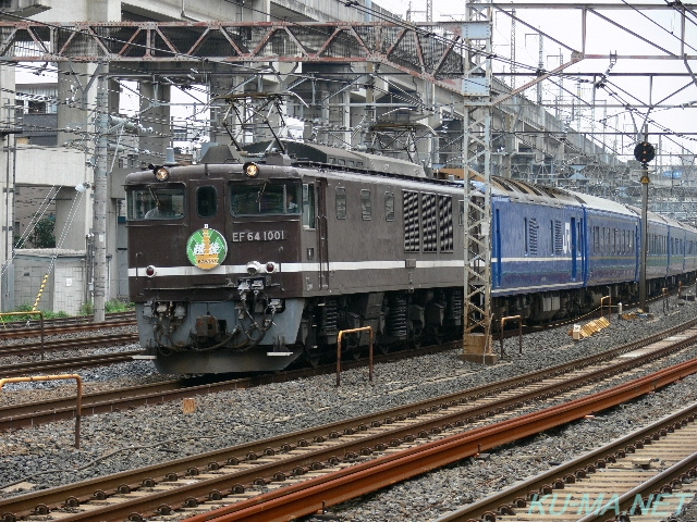 Photo of EF64-1001 and 24 series 7 cars EF81 ECHIGO